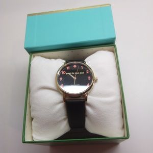 """Kate Spade New """"Paint the Town Pink"""" Black Watch"""